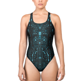 LOGIC I7 BLUE ONE-PIECE SWIMSUIT