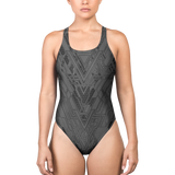 MECH III ASHEN ONE-PIECE SWIMSUIT