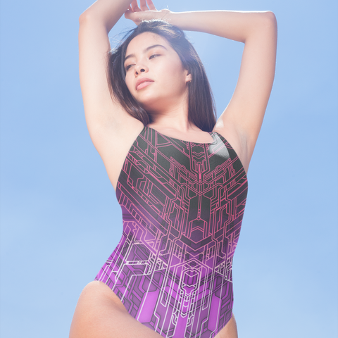 MECH XIII ONE-PIECE SWIMSUIT-XS-Dustrial