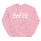 BYTE CREWNECK SWEATSHIRT-Light Pink-S-Dustrial