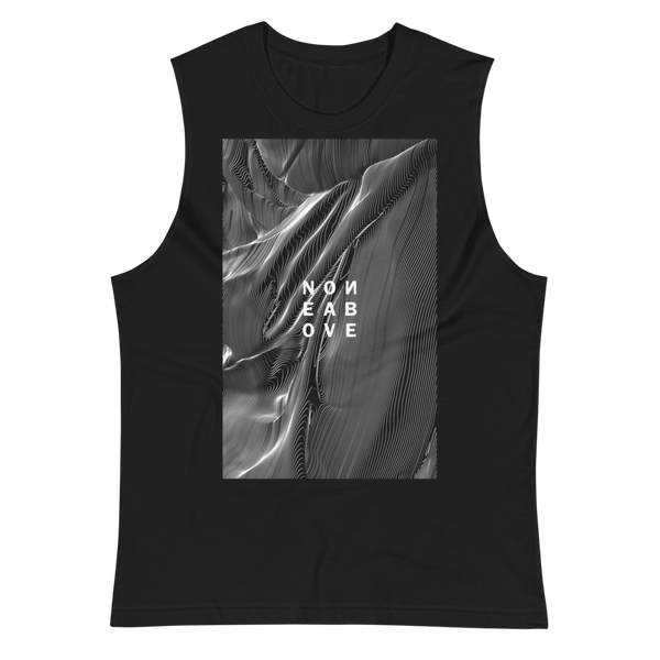 NONE ABOVE MUSCLE TANK-Black-S-Dustrial