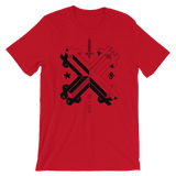 DOUBLE DOUBLE CROSS CROSS UNISEX T-SHIRT-Red-S-Dustrial