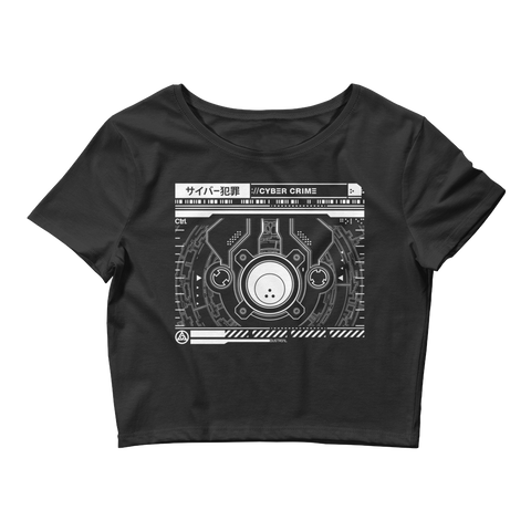 INTERFACE ETHERNET XERO CROP TEE-Black-XS/SM-Dustrial