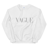 VAGUE CREWNECK SWEATSHIRT-White-S-Dustrial