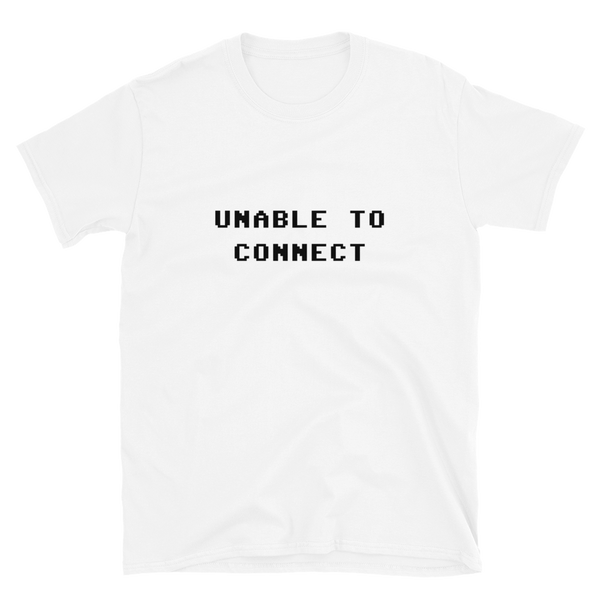 UNABLE TO CONNECT BUDGET TEE-White-S-Dustrial