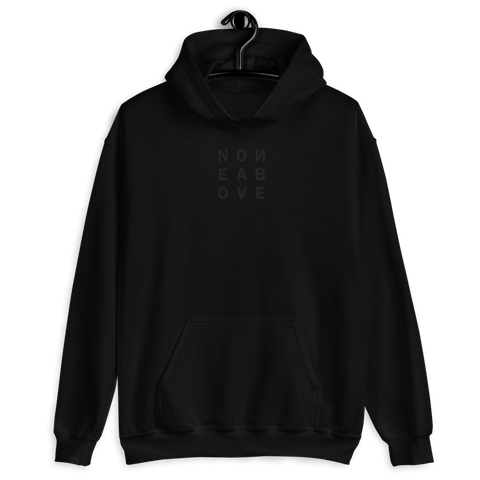 NONE ABOVE BLVCK E UNISEX HOODIE