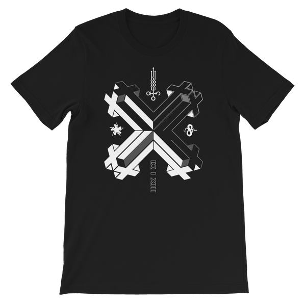 DOUBLE DOUBLE CROSS CROSS UNISEX T-SHIRT-Black-XS-Dustrial