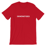 DEMONETIZED UNISEX T-SHIRT-Red-S-Dustrial