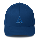 TRINITY FLEXFIT TWILL CAP-Royal Blue-S/M-Dustrial
