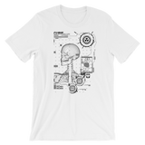 RADIOCURIE UNISEX T-SHIRT-White-XS-Dustrial