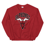 BAPHOMET CREWNECK SWEATSHIRT-Red-S-Dustrial