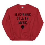 ELECTRONIC DEATH MUSIC CREWNECK SWEATSHIRT-Red-S-Dustrial