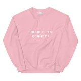 UNABLE TO CONNECT CREWNECK SWEATSHIRT-Light Pink-S-Dustrial