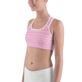 LOW-POLY PINK SPORTS BRA-Dustrial