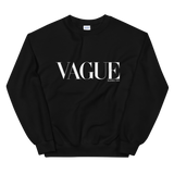 VAGUE CREWNECK SWEATSHIRT-Black-S-Dustrial