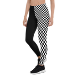 CHECKED OUT MONO ASYM LEGGINGS-S-Dustrial