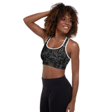 SIERP DECONSTRUCT MONO V2 PADDED SPORTS BRA-Dustrial