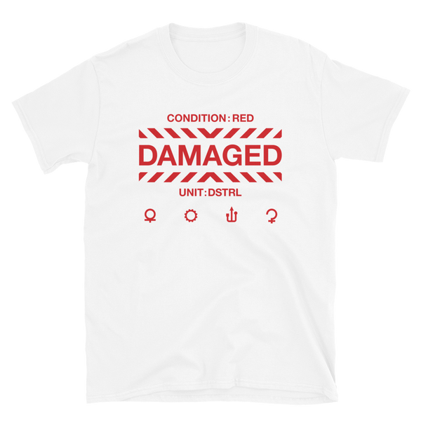 DAMAGED 000 BUDGET TEE-White-S-Dustrial