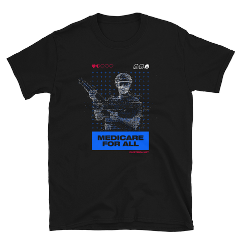 MEDICARE 4 ALL BUDGET TEE-Black-S-Dustrial
