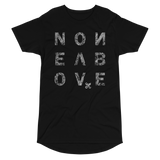 NONE ABOVE DISTRESS LONG BODY T-SHIRT-Black-S-Dustrial