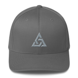 TRINITY FLEXFIT TWILL CAP-Grey-S/M-Dustrial