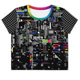 VHS RETROGRADE AO CROP TOP-XS-Dustrial