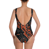 MOLECULAR GREY ONE-PIECE SWIMSUIT-Dustrial