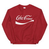 CYBERCRIME CLASSIC CREWNECK SWEATSHIRT-Red-S-Dustrial