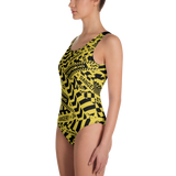 DANGER ONE-PIECE SWIMSUIT-Dustrial