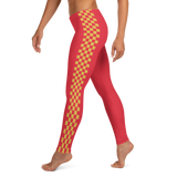 CHECKED OUT RED LEGGINGS-Dustrial