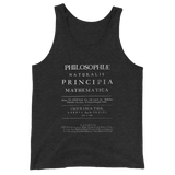 PRINCIPIA UNISEX TANK TOP-Charcoal-Black Triblend-XS-Dustrial
