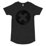 ERROR DISTRESS LONG BODY T-SHIRT-Dark Grey Heather-S-Dustrial
