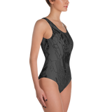 MECH III ASHEN ONE-PIECE SWIMSUIT-Dustrial