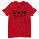 DAMAGED 002 UNISEX T-SHIRT-Red-S-Dustrial