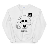 2SAD2WEIRD CREWNECK SWEATSHIRT-White-S-Dustrial