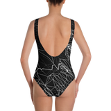 VECTOR BREAK MONO ONE-PIECE SWIMSUIT