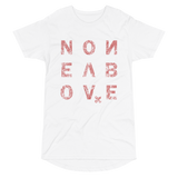 NONE ABOVE DISTRESS LONG BODY T-SHIRT-White-S-Dustrial