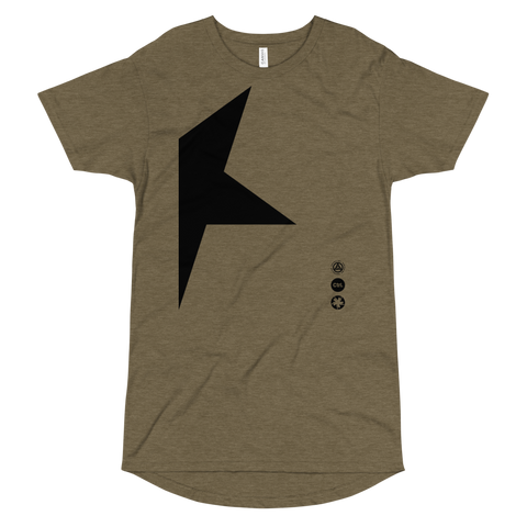 036S LONG BODY TEE-Heather Olive-S-Dustrial