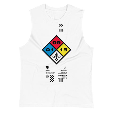 09011E HAZARD MUSCLE TANK-White-S-Dustrial