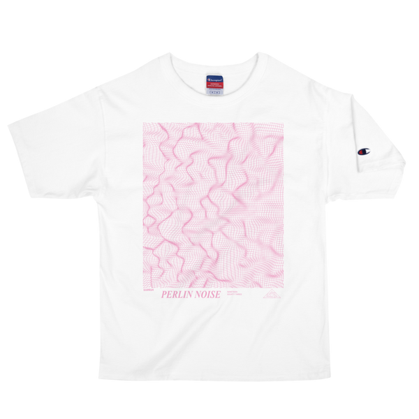 PERLIN NOISE CHAMPION TEE-White-S-Dustrial