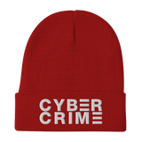 CYBERCRIME KNIT BEANIE-Red-Dustrial