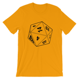 BF D20 UNISEX T-SHIRT-Gold-S-Dustrial