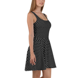 HEXAGON MONO SKATER DRESS-XS-Dustrial