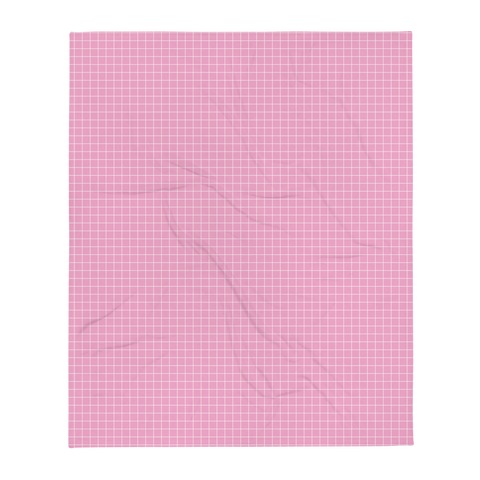 LOW POLY PINK THROW BLANKET-Dustrial
