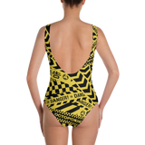 DANGER ONE-PIECE SWIMSUIT
