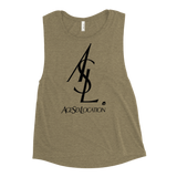 ASL WOMEN'S MUSCLE TANK-Heather Olive-S-Dustrial
