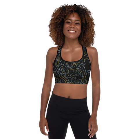 PRIMORDIAL STRING PADDED SPORTS BRA