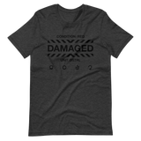 DAMAGED 002 UNISEX T-SHIRT-Dark Grey Heather-XS-Dustrial