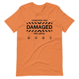 DAMAGED 002 UNISEX T-SHIRT-Burnt Orange-XS-Dustrial