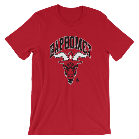 BAPHOMET UNISEX T-SHIRT-Red-S-Dustrial